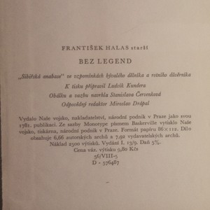 """antikvární kniha Bez legend. """"Sibiřská anabase"""