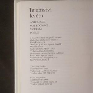 antikvární kniha Tajemství květu. Antologie makedonské moderní poezie, 1996