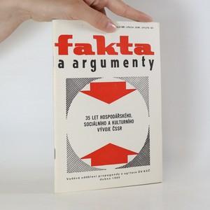 náhled knihy - Fakta a argumenty. 35 let hospodářského, sociálního a kulturního vývoje ČSSR