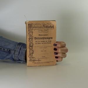 náhled knihy - Montesquieu's Betrachtungen über die Ursachen der Größe der Römer und deren Berfall
