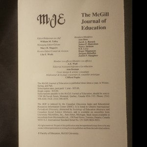 antikvární kniha The McGill Journal of Education, neuveden