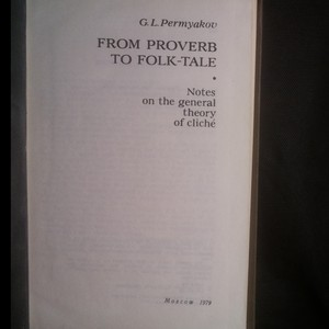antikvární kniha From Proverb to Folk-Tale, 1979