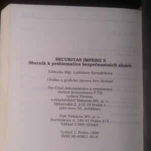 antikvární kniha Securitas imperii 5. díl, 1999