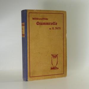 náhled knihy - Allschlaraffische Stammrolle Anno U. 70/71