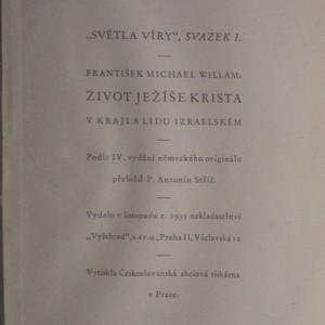 antikvární kniha Život Ježíše Krista, 1935