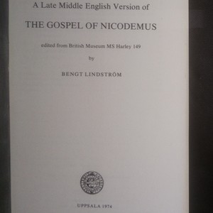 antikvární kniha A Late Middle English Version of The Gospel of Nicodemus, 1974