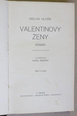 náhled knihy - Valentinovy ženy : Román