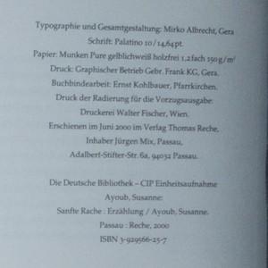 antikvární kniha Die sanfte Rache, 2000