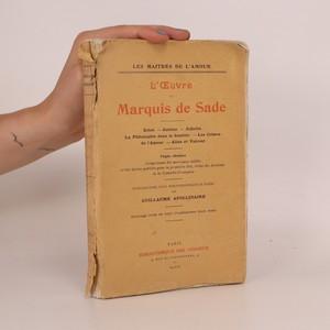 náhled knihy - L'Œuvre du Marquis de Sade