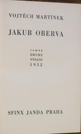 náhled knihy - Jakub Oberva : román