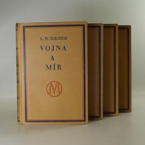 náhled knihy - Vojna a mír I-IV (4 svazky, komplet) (je cítit kouřem)