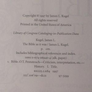 antikvární kniha The Bible as it was, 1997