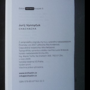 antikvární kniha Chachacha, 2009
