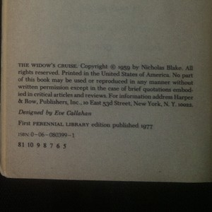antikvární kniha The widow's cruise. A Nigel Strangeways mystery, 1977