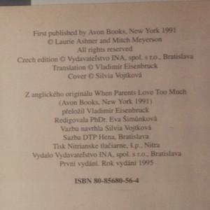 antikvární kniha Když rodiče příliš milují, 1995