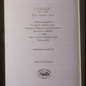 antikvární kniha Vycházky 1991-2003, 2003