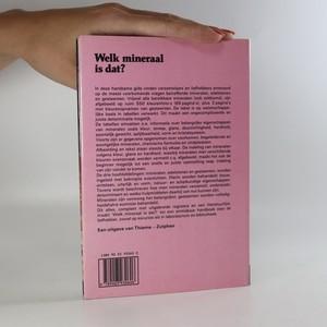 antikvární kniha Welk mineraal is dat? Mineralen, Gesteenten, Edelstenen, neuveden