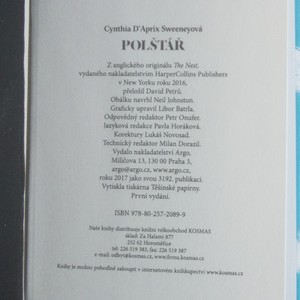 antikvární kniha Polštář, 2017