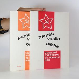náhled knihy - Paměti Vasila Biľaka I-II (2 svazky, komplet)