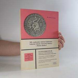 náhled knihy - Supplementum sborníku vědeckých prací Lékařské fakulty University Karlovy v Hradci Králové