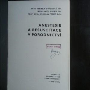 antikvární kniha Anestesie a resuscitace v porodnictví, 1973