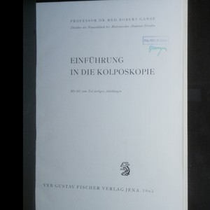 antikvární kniha Einführung in die Kolposkopie, 1963
