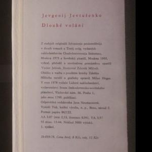antikvární kniha Dlouhé volání, 1978