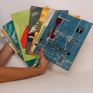 náhled knihy - Architektura ČSSR. Kompletní ročník XX. Čísla 1-10. (10 sešitů)