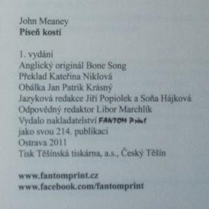 antikvární kniha Píseň kostí, 2011