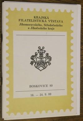 náhled knihy - Krajská filatelistická výstava Jihomoravského, Středočeského a Jihočeského kraje  16. - 24. 9. 1989