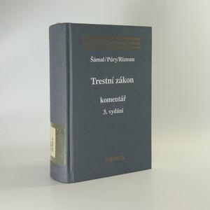 náhled knihy - Trestní zákon. Komentář