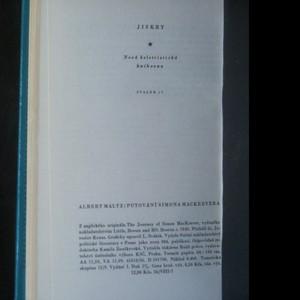 antikvární kniha Putování Simona Mackeevera, 1959