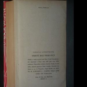 antikvární kniha Smrtí boj nekončí, 1957