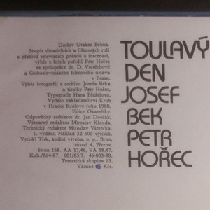 antikvární kniha Toulavý den (podpis autora), 1988