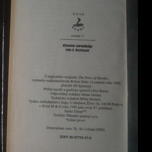 antikvární kniha Cena vraždy, 1995