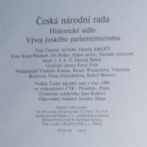antikvární kniha Česká národní rada. Historické sídlo, vývoj českého parlamentarismu, 1990
