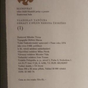 antikvární kniha Obrazy z dějin národa českého 1. díl, 1974