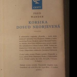 antikvární kniha Korsika dosud neobjevená, 1960