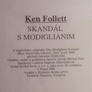 antikvární kniha Skandál s Modiglianim , 1993