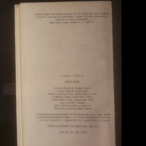 antikvární kniha Západ. Pohorský obraz, (neuveden)