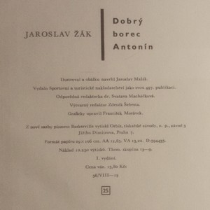 antikvární kniha Dobrý borec Antonín , neuveden