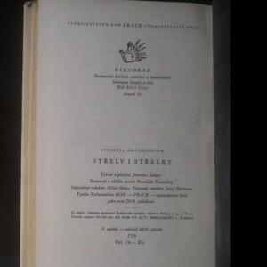 antikvární kniha Střely i střelky, 1956
