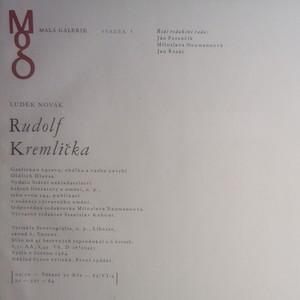 antikvární kniha Rudolf Kremlička, 1964