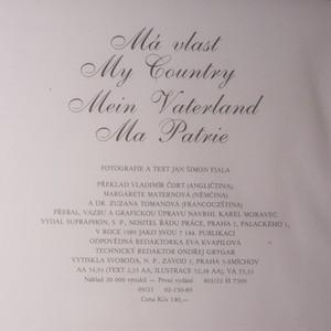 antikvární kniha Má vlast. My Country, Menin Vaterland, Ma Patrie, 1989