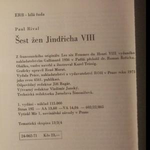 antikvární kniha Šest žen Jindřicha VIII., 1971