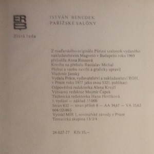 antikvární kniha Pařížské salóny, 1977