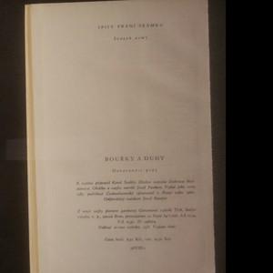 antikvární kniha Bouřky a duhy, 1960