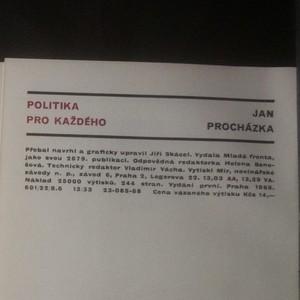 antikvární kniha Politika pro každého, 1968