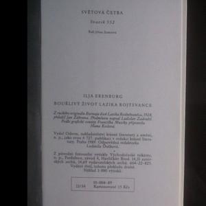 antikvární kniha Bouřlivý život Lazika Rojtšvance, 1989