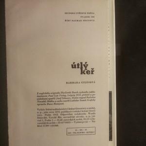 antikvární kniha Útlý keř, 1962